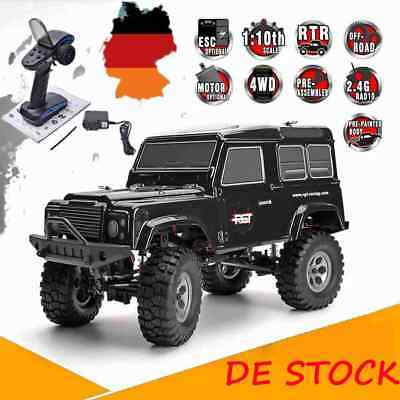 HSP RGT 1/10 Scale 4WD Off-road 2.4G Electric Crawler 10Km/h Truck RC Car Schwar