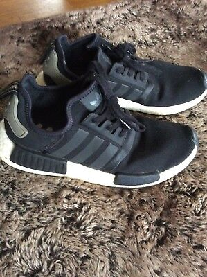 b764d802defaa SZ 9 Adidas Originals NMD R1 Runner Core Black Cargo Trail BA7251 UltraBoost
