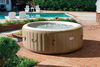 Hidromasaje hinchable Intex 28408 Bubble SPA bañera redonda 216x71