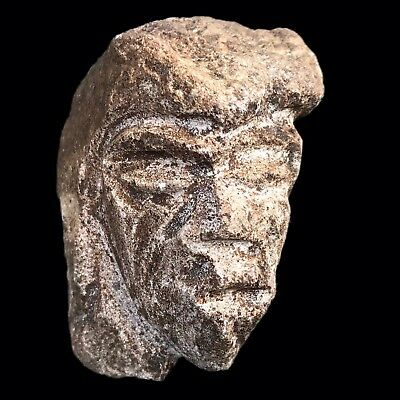 Ultra Rare Stone Age Ancient Neolithic Anthromorphic Vinca Bust (4)