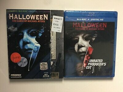 Halloween 6 The Curse of Michael Myers (Blu-ray, 2018) NEW w/VHS retro slipcover