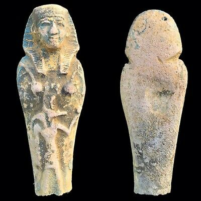 EGYPTIAN HIEROGLYPHIC SHABTI FRAGMENT, LATE PERIOD 664 - 332 BC (2) Large