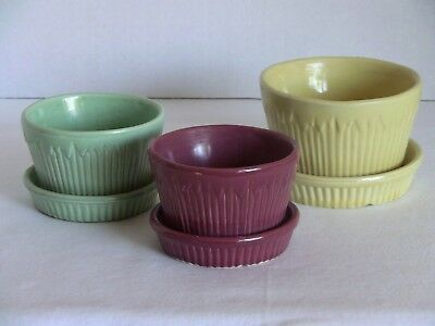 Vintage Morton USA Planter Set of 3