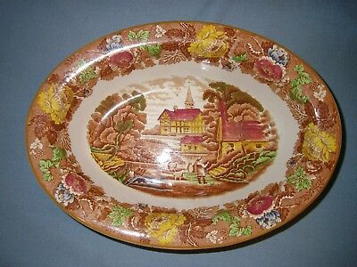 Wood & Sons Enoch Woods English Scenery Multi Color Oval Vegetable Serving Bowl