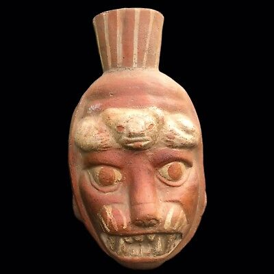 Pre Columbian Busted Drinking Vessel