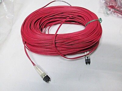 Cablexpress 200 Feet Lc/lc 50/125 Om4 Red Fiber Optic Jumper Cable Plenum New