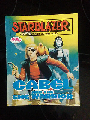 "Starblazer #194 ""CABEL AND THE SHE WARRIOR"" published by DC Thomson"