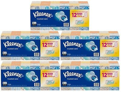 5 * 12 pack 160 Kleenex Ultra Soft Facial Tissues 2-ply 9,600 total