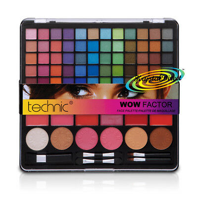 Technic Wow Factor Eye/Face/Lip Gloss Palette Make-Up Cosmetic 101pc Gift Set
