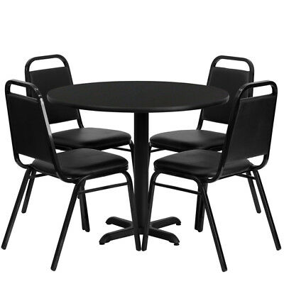 "Set of 10 Square 36"" Restaurant/Cafe/Bar Laminate Table Set with Four Chairs"