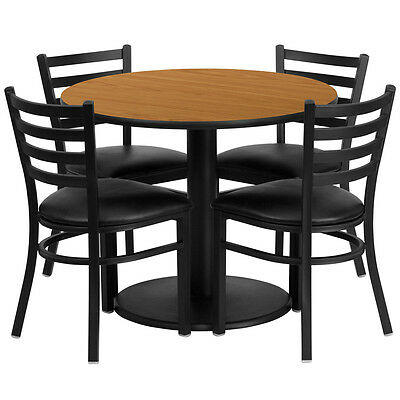 "Set of 10 36"" Round Restaurant/Cafe/Bar Table and Four Metal Chair/Barstool"