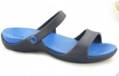 hot new products sale uk new products CROCS CLEO SIZE 8 Navy Blue Slides Two Strap Sandals Strappy ...