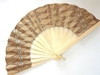 Traditional Batik Print Bamboo Hand Folding Hand Fan Small Malaysia Va139S-6