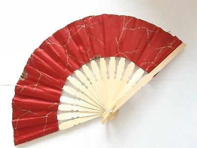 Traditional Batik Print Bamboo Hand Folding Hand Fan Small Malaysia Va139S-7