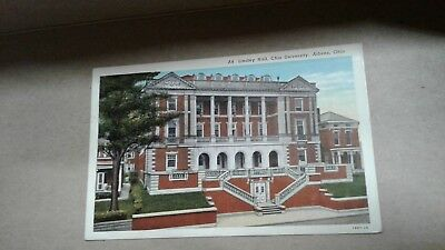 Vintage Postcard Lindley Hall Ohio University Athens Ohio