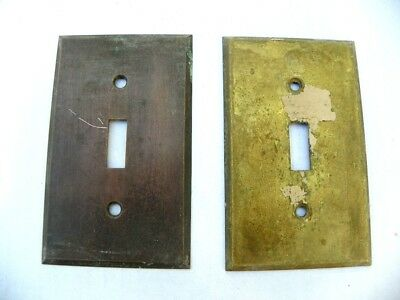 Vintage Antique Solid Brass Toggle Light Switch Plate Cover