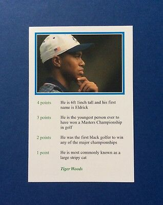 1999 BBC A Question Of Sport Tiger Woods ROOKIE RC # Perfect Condition