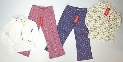 NWT LOT OF 4 SHIRTS PANTS Oshkosh Gymboree LS Floral Girls Sz 4 Pink Purple NEW