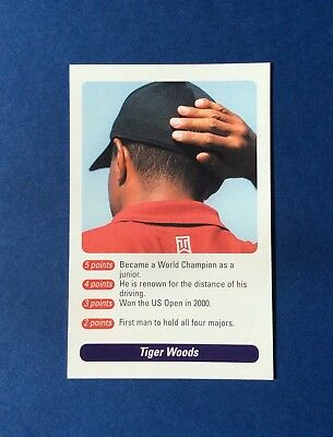 Tiger Woods Golf Card 2002 Bbc A Question Of Sport
