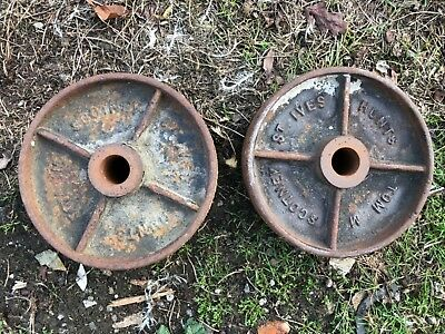 2 Vintage Cast Iron Garden Hut Shed Wheels Stationary Engine St Ives Scotney