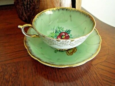 Vintage Tea Cup & Saucer Hand Painted Made in Japan FREESHIP!