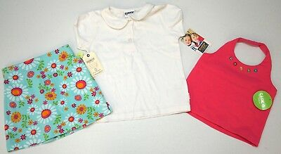 NWT LOT OF 4 SHIRTS SKORT SOCKS Oshkosh Gymboree Girls 4T Pink Blue Skirt NEW