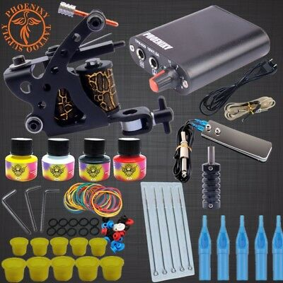 Professional Tattoo Kits Top Artist Complete Set 1 Tattoo Machine Gun Lining And