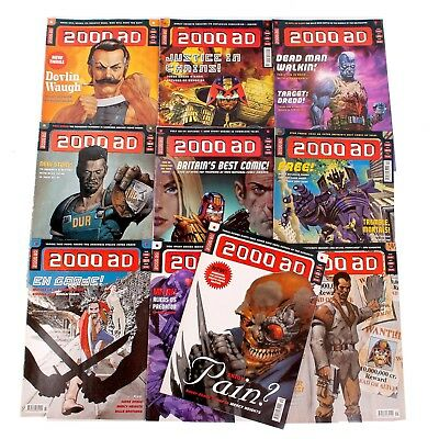 Bundle Of 10 2000AD Comics - Judge Dredd - 1140-1149  - 1999