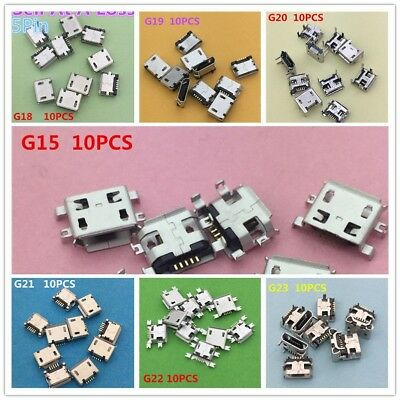 70PCS/lot  7 Kinds Mini USB  Socket Connector for Tail Charging Mobile Phone Dat