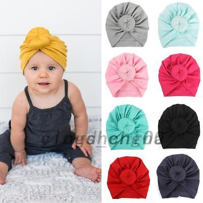Newborn Baby Girl Soft Cute Indian Turban Knot Rabbit Hospital Hat AU Post