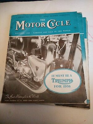Job Lot Of 7 Vintage The Motor Cycle Magazines 1956