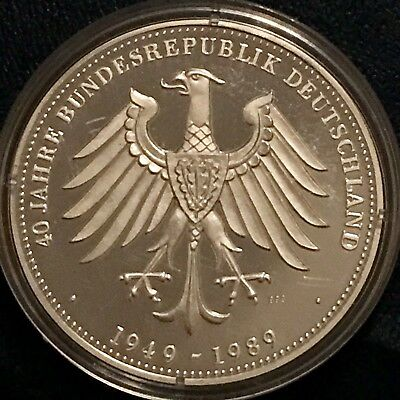 Germany 40 Year Silver Round Medal Proof