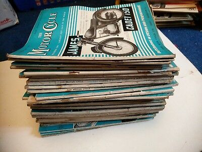 Job lot of Vintage The Motor Cycle 1956 X 37 Copies