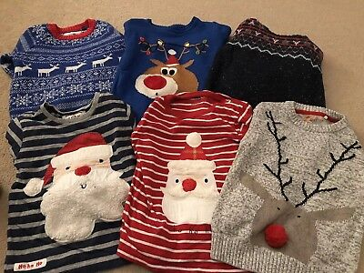 Boys Xmas Jumper Bundle 3-4 Years
