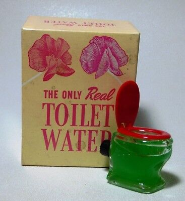 VTG Perfume 1948 REAL TOILET WATER Fishlove Co. Chicago Joke Gag w Orig Box