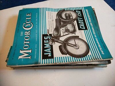 Job Lot Of Vintage The Motor Cycle Magazine 1956 10 Copies