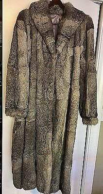 Womens Mongolian Gray Rabbit Long Fur Coat Large To Extra Large Lined  Unbranded 617758d36e