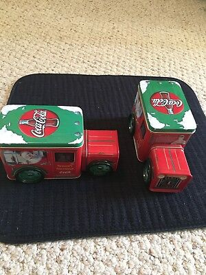 Coca-Cola Cans Trucks With Movable Wheels, Christmas Decor