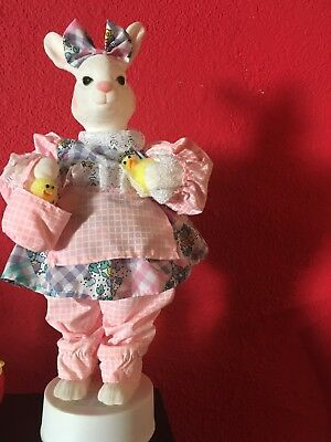 Vintage Telco Easter Bunny Rabbit Motionette Animated Figure