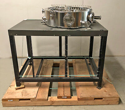 """Ultra High Vacuum Chamber Stainless Steel Conflat CF CFF 28.5""""x 9"""" UHV SS +Stand"""