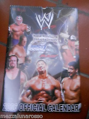 World Wrestling Raw Smack Down Calendario Ufficiale 2006 - Sigillato