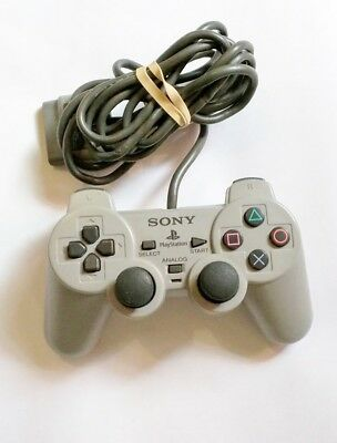 Official OEM Sony PlayStation 1 PS1 Gray DualShock Controller