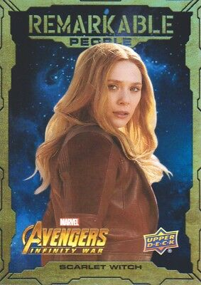 2018 Marvel Avengers Infinity War Remarkable People Inserts #RP2 Scarlet Witch