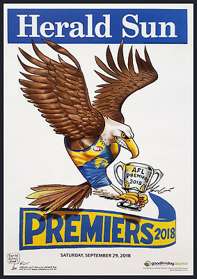 Herald Sun West Coast Eagles Afl Premiers 2018 Weg Knight Poster