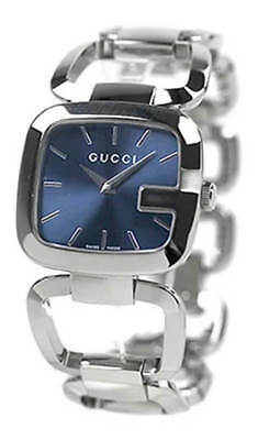 41f82e7ee83 Gucci G-Gucci 25MM G Shaped Stainless Steel Blue Dial Women s Watch YA125405