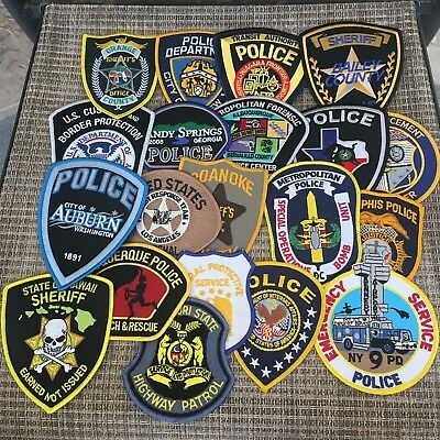 Lot Of 20 Police Sheriff Correction Patches / New / Unused