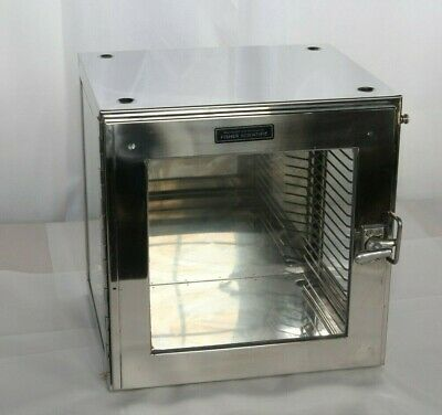 """Used Fisher Scientific 12"""" Stainless Steel & Glass Dessicator"""