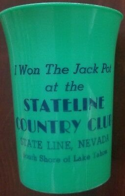 Stateline Country Club Plastic Cup. S. Lake Tahoe, NV