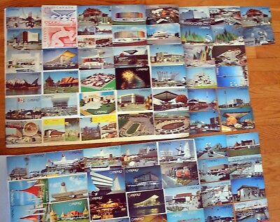 CANADA Montreal Expo 67 Lot of 86 Different Rare & Vintage Postcard FREE SHIP