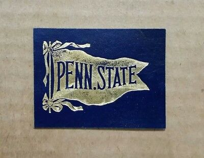 Penn State Nittany Lions Tobacco Leather (Blue Background) 1900's-1910's
